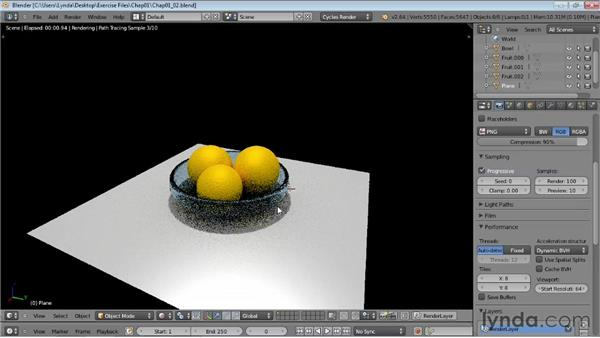 Controlling interactive rendering: Rendering Using Cycles in Blender