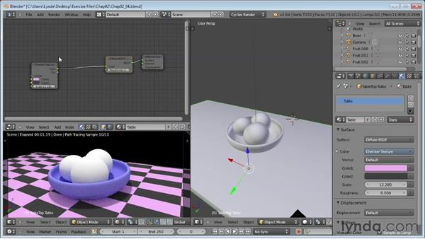 Adding textures to materials: Rendering Using Cycles in Blender