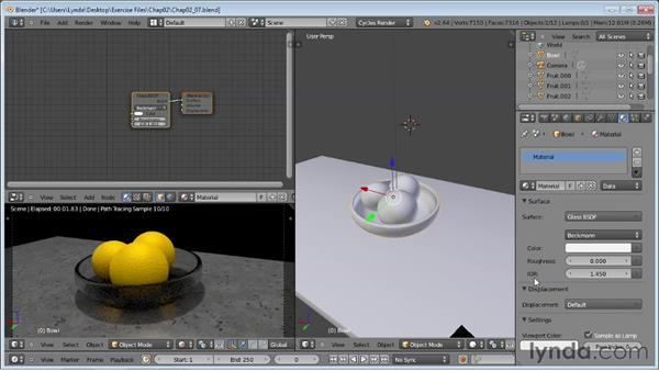 Creating realistic glass: Rendering Using Cycles in Blender