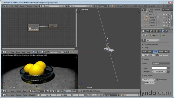 Exploring lighting types for Cycles: Rendering Using Cycles in Blender