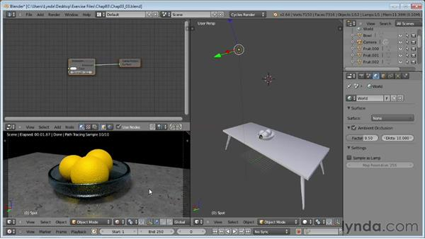 Using ambient occlusion: Rendering Using Cycles in Blender