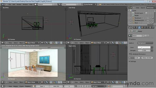 Setting up an environment: Rendering Using Cycles in Blender