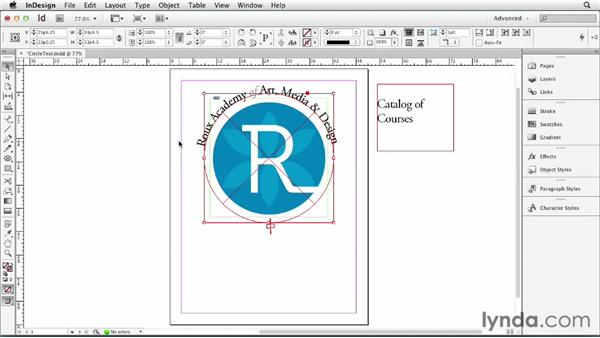 074 Running text along the top and the bottom of a circle: InDesign Secrets