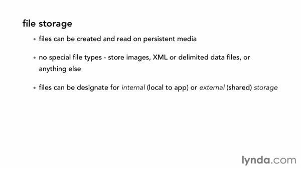 : Android SDK: Local Data Storage