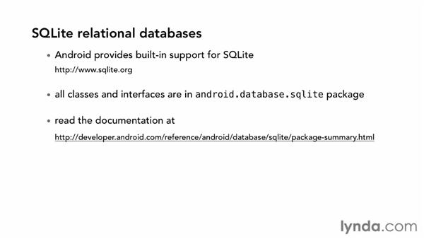 Creating a new SQLite database: Android SDK: Local Data Storage
