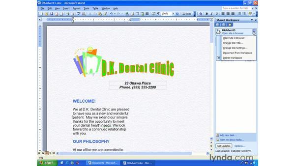 delete: Word 2003 Essential Training