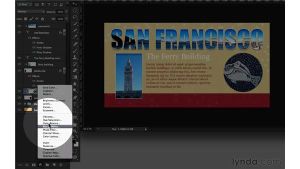 Clipping layer adjustments into a layer: Design the Web: Clipping Masks