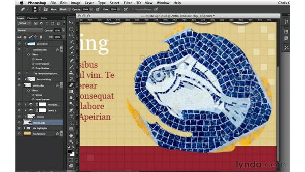 Painting and erasing a custom clipping shape: Design the Web: Clipping Masks