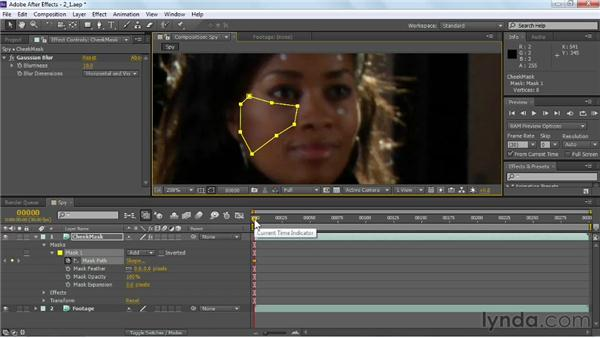 Rotoscoping tracking marks: VFX Techniques: Tracking Objects onto a Face