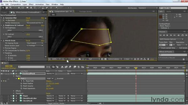 Removing remaining track marks: VFX Techniques: Tracking Objects onto a Face