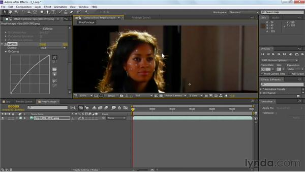 Preparing the footage for tracking: VFX Techniques: Tracking Objects onto a Face
