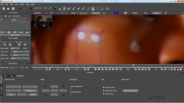 Adjusting planar surfaces: VFX Techniques: Tracking Objects onto a Face
