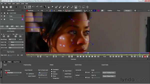 Adding a second tracking layer in mocha: VFX Techniques: Tracking Objects onto a Face