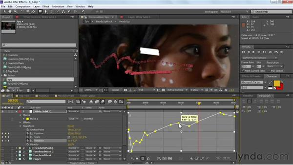Fabricating geometry and shadows: VFX Techniques: Tracking Objects onto a Face