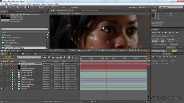 Adding highlights and light effects: VFX Techniques: Tracking Objects onto a Face
