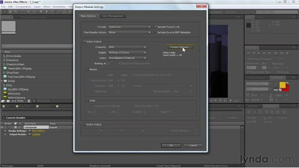 Batch rendering the final comp: VFX Techniques: Tracking Objects onto a Face