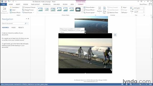 Inserting online video: Office 2013 New Features