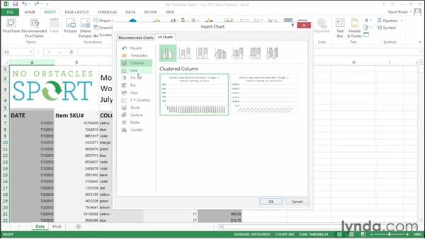 Using Chart Advisor recommendations: Office 2013 New Features