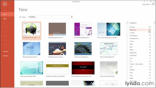 Working with new templates: Office 2013 New Features