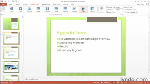 Exploring new transition effects: Office 2013 New Features