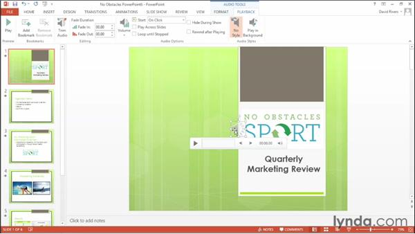 Playing an audio track across multiple slides: Office 2013 New Features