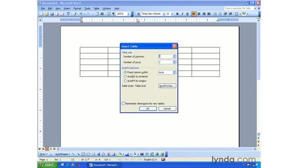 creating: Word 2003 Essential Training