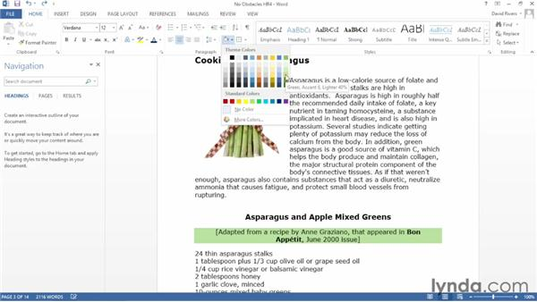 Applying paragraph shading and borders: Word 2013 Essential Training