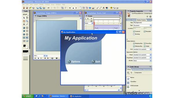 display template: New in Director MX 2004