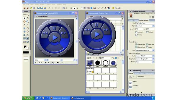appearance options: New in Director MX 2004