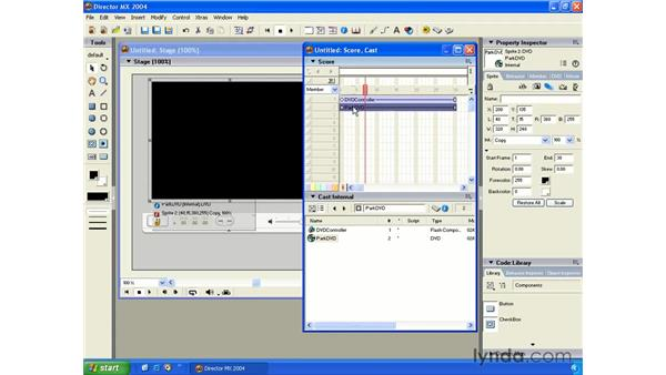 DVD controller: New in Director MX 2004
