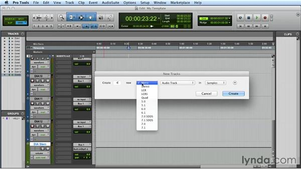 The power of the template: Mixing a Short Film with Pro Tools