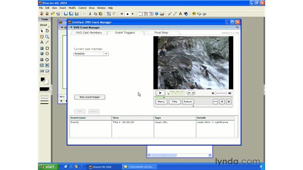 using the DVD event manager: New in Director MX 2004
