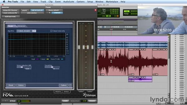 Fixing broadband noise issues with processing: Mixing a Short Film with Pro Tools