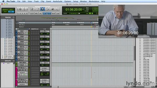 Synchronizing sound effects: Mixing a Short Film with Pro Tools