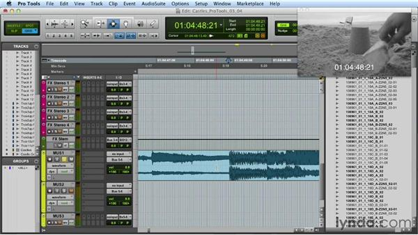 Working with music tracks: Mixing a Short Film with Pro Tools