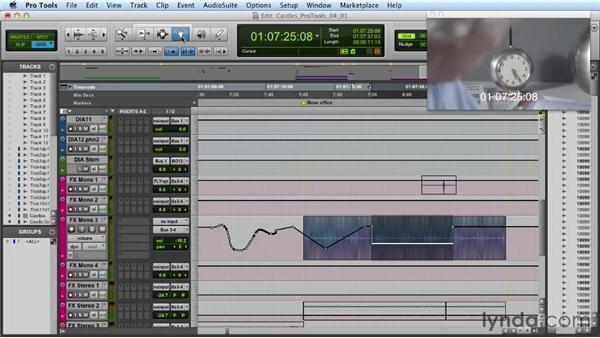 Automating volume: Mixing a Short Film with Pro Tools