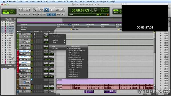 Printing final stems: Mixing a Short Film with Pro Tools