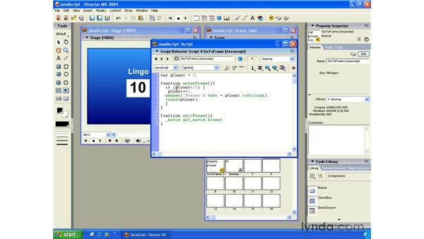 new javascript scripting feature: New in Director MX 2004