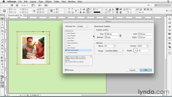 078 Achieving a developing Polaroid effect: InDesign FX