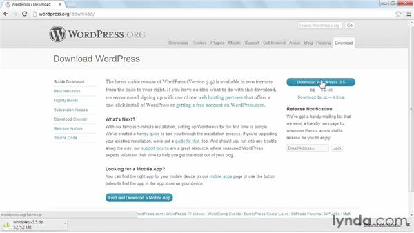 Downloading WordPress: Installing and Running WordPress: WAMP (2013)