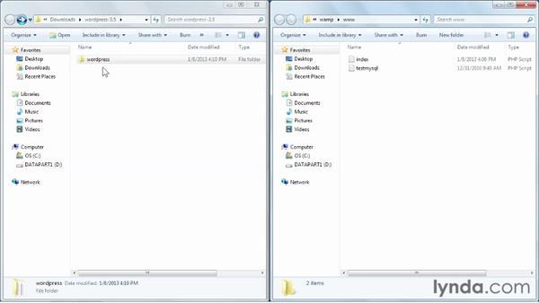 Installing WordPress: Installing and Running WordPress: WAMP (2013)