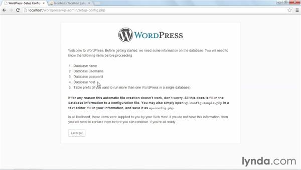 Configuring WordPress and WAMP to work together: Installing and Running WordPress: WAMP
