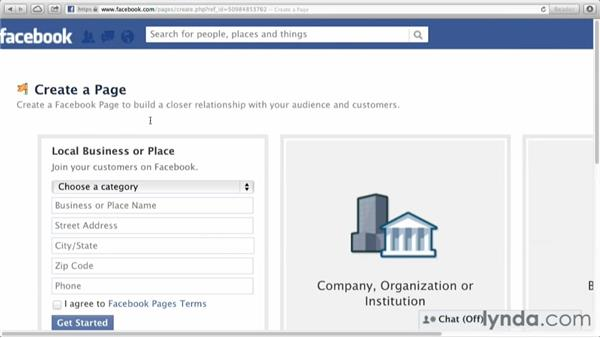 Choosing a page type: Facebook for Photo and Video Pros