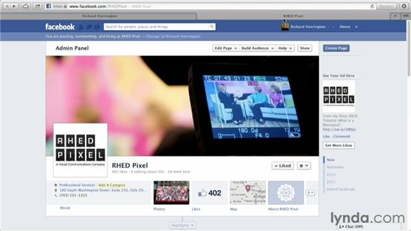 Attracting fans to your page: Facebook for Photo and Video Pros