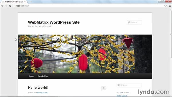 Configuring WordPress: Installing and Running WordPress: WebMatrix