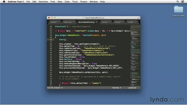 Basic editing features: Up and Running with Sublime Text 2