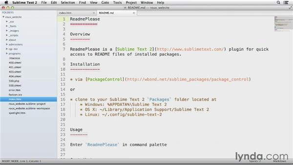 ReadmePlease: Up and Running with Sublime Text 2