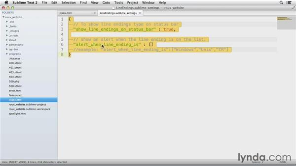 LineEndings: Up and Running with Sublime Text 2