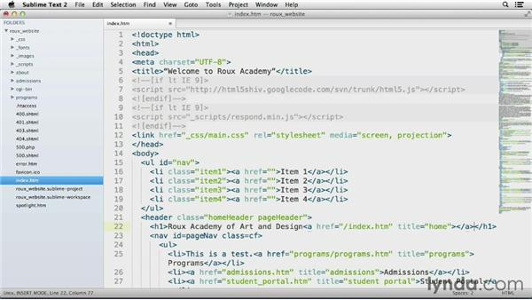 Emmet: Up and Running with Sublime Text 2