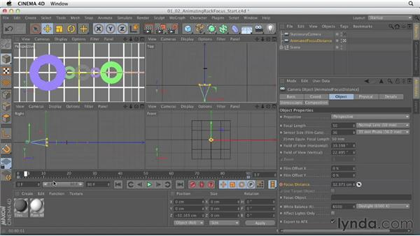 Animating rack focus: Production Rendering Techniques in CINEMA 4D